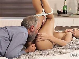 DADDY4K. damsel rails aged gentleman s joystick in father porn movie