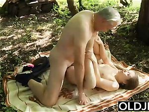 nasty nubile donk spanking by grandpa And kissing nailed